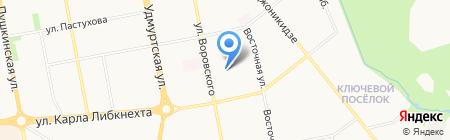 Загар на карте Ижевска