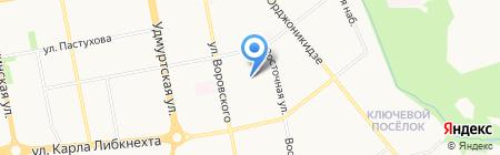 Детский сад №153 на карте Ижевска