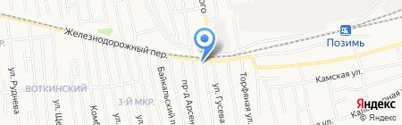 Эркон на карте Ижевска