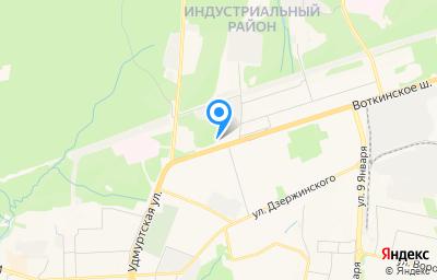 Местоположение на карте пункта техосмотра по адресу г Ижевск, ш Воткинское, д 17В