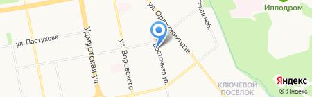 Призывной пункт г. Ижевска на карте Ижевска