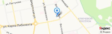 Детский сад №58 на карте Ижевска
