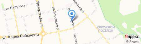 Росич на карте Ижевска