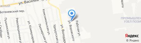 На Воровского на карте Ижевска