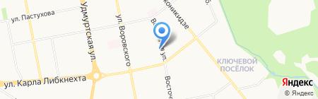 Главная дорога на карте Ижевска