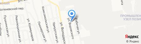 Шуст на карте Ижевска