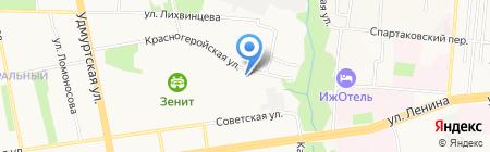 Витта-Строй на карте Ижевска