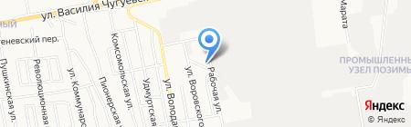 Авто-эвакуатор на карте Ижевска