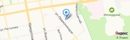 Ключевой на карте Ижевска