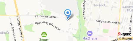 Автошкола Радиозавода на карте Ижевска