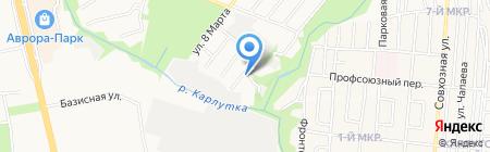 V-cars на карте Ижевска
