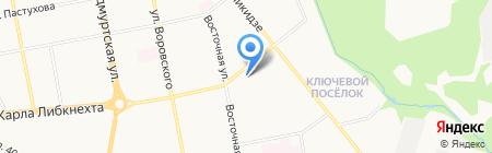 Восточный парус на карте Ижевска