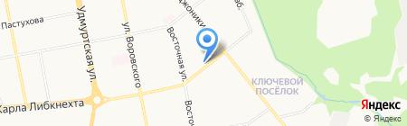 Казмаска на карте Ижевска