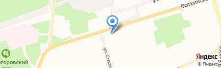 Троллейбусная диспетчерская служба на карте Ижевска