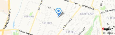 Landing-page на карте Ижевска