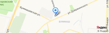Ижевский индустриальный техникум на карте Ижевска