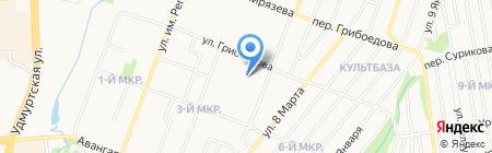 Строящиеся объекты на карте Ижевска