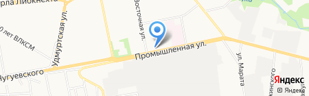 Рыболов на карте Ижевска