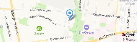 Алюкс на карте Ижевска