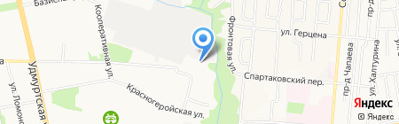 Субару на карте Ижевска
