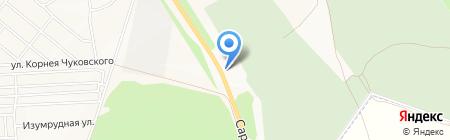 Южное на карте Ижевска