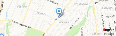Егозаврик на карте Ижевска