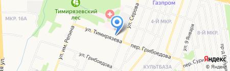 Тимирязевский на карте Ижевска