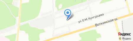 Детский сад №12 на карте Ижевска
