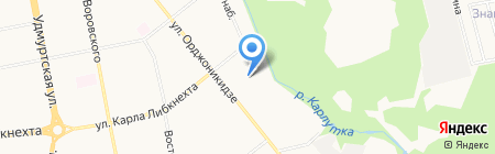 Министерство национальной политики Удмуртской Республики на карте Ижевска