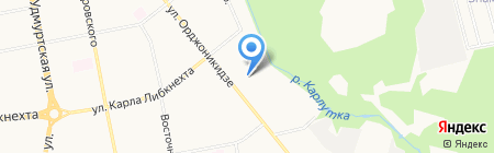 Ориён-Тадж на карте Ижевска