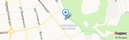 Детский сад №222 на карте Ижевска