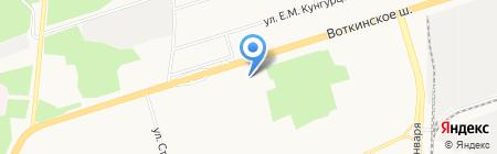 Русич на карте Ижевска