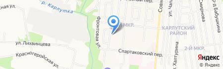 Детский сад №201 присмотра и оздоровления на карте Ижевска