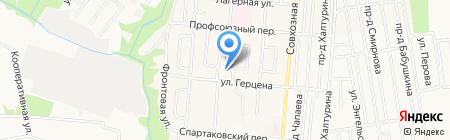 Библиотека №21 на карте Ижевска