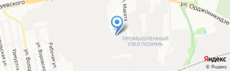 Исток на карте Ижевска