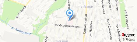 Городская клиническая больница №1 на карте Ижевска