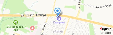 Чашка кофе на карте Ижевска