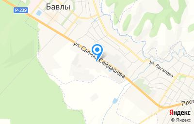 Местоположение на карте пункта техосмотра по адресу Респ Татарстан, г Бавлы, ул С.Сайдашева, д 13