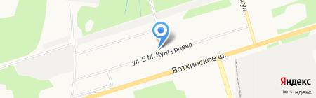 Молодежный на карте Ижевска