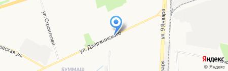 Киоск по изготовлению ключей на карте Ижевска