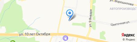 Детский сад №63 на карте Ижевска
