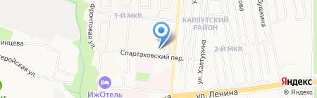 Восток на карте Ижевска
