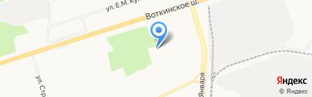 Салюс на карте Ижевска