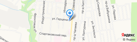 Восточный квартал на карте Ижевска