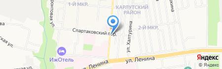 Каскад на карте Ижевска