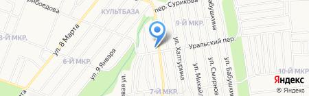 Штучный на карте Ижевска