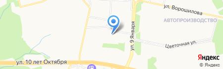 Детский сад №181 на карте Ижевска