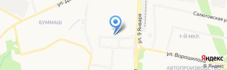 Водица на карте Ижевска