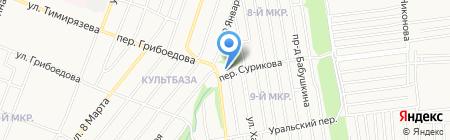 Автобаня на карте Ижевска