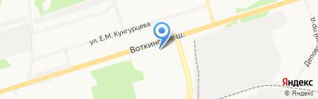 Служба заказа микроавтобуса на карте Ижевска